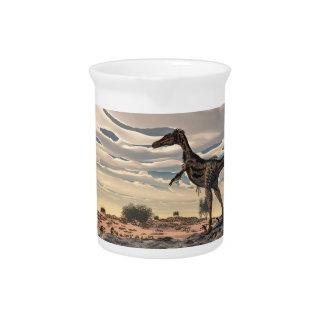 Velociraptor dinosaur - 3D render Drink Pitchers