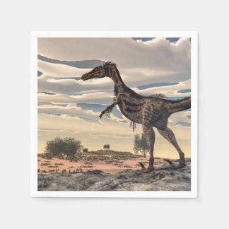 Velociraptor dinosaur - 3D render Paper Serviettes