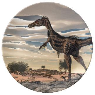 Velociraptor dinosaur - 3D render Plate