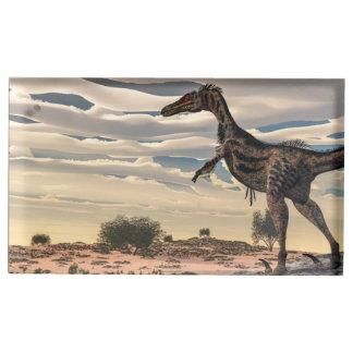 Velociraptor dinosaur - 3D render Table Card Holders
