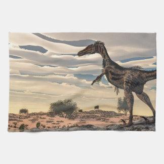 Velociraptor dinosaur - 3D render Towels
