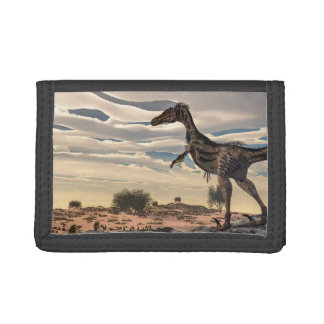 Velociraptor dinosaur - 3D render Trifold Wallet