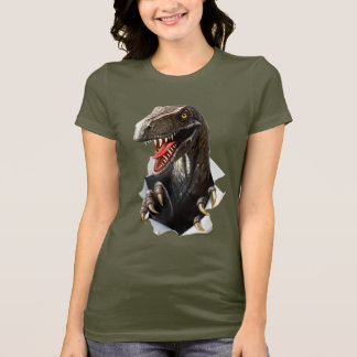 Velociraptor Dinosaur Dark T-Shirt