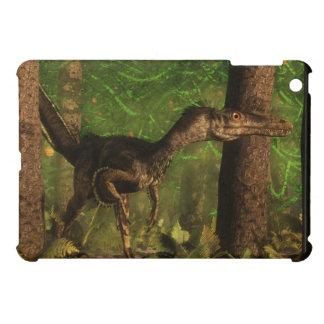 Velociraptor dinosaur in the forest cover for the iPad mini