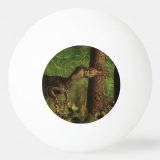 Velociraptor dinosaur in the forest ping pong ball