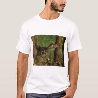 Velociraptor dinosaur in the forest T-Shirt