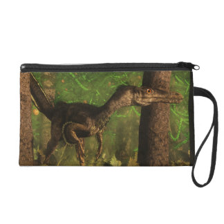 Velociraptor dinosaur in the forest wristlet