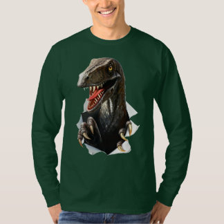Velociraptor Dinosaur Long Sleeve T-Shirt