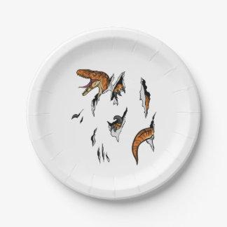 Velociraptor Escape Paper Plate