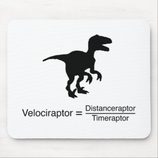 velociraptor funny science mouse pad