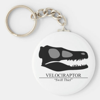 Velociraptor Skull Key Ring