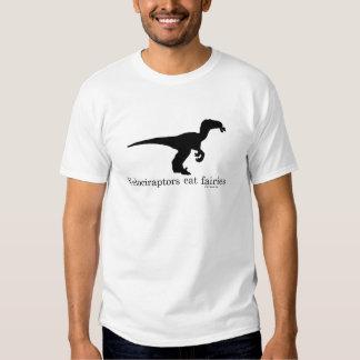 Velociraptors eat fairies t-shirts