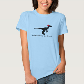 Velociraptors like flowers tshirt