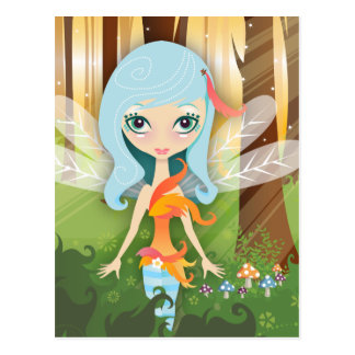 VelusaPixie Dragonfly Forest Fairy Postcard