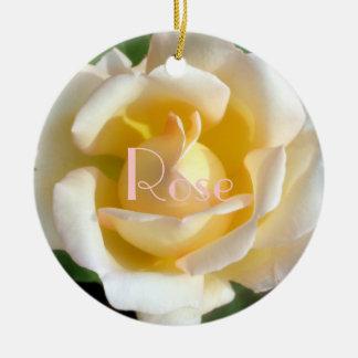 Velvet Blush Rose Christmas Tree Ornaments