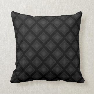 Velvet Diamonds (Charcoal) Throw Pillow