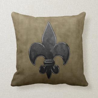 Velvet Fleur De Lis Cushion