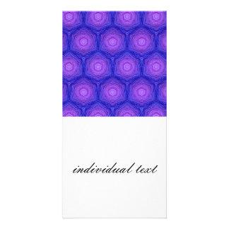 velvet pattern,blue customized photo card