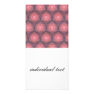 velvet pattern,peach photo card template