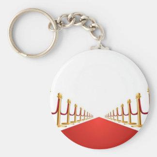 Velvet rope and red carpet illustration key ring