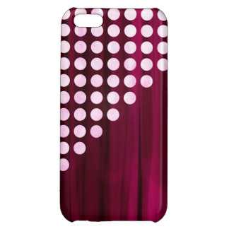 Velvet With White Polka Dots Pattern iPhone 5C Cases