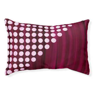 Velvet With White Polka Dots Pattern Pet Bed