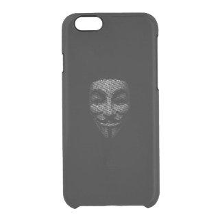 Vendetta Mask Print Clear iPhone 6/6S Case