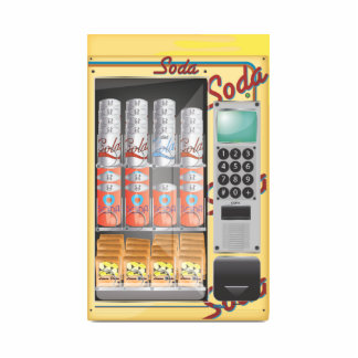 Vending Machine Standing Photo Sculpture