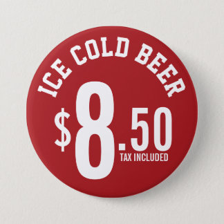 Vendor Concession Supplies - Ice Cold Beer Seller 7.5 Cm Round Badge