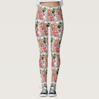 Vendredi Half Brick Fox Hearts Leggings