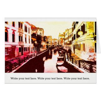 Venedig, Venice Panorama Rainbow Popart Card