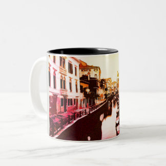 Venedig, Venice Panorama Rainbow Popart Two-Tone Coffee Mug