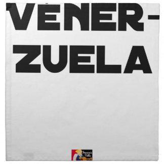 VÉNER-ZUELA - Word games - François City Napkin