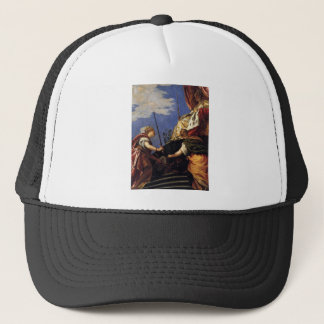 Venetia between Justitia and Pax by Paolo Veronese Trucker Hat
