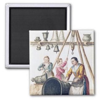 Venetian Bellmaker's Shop Square Magnet