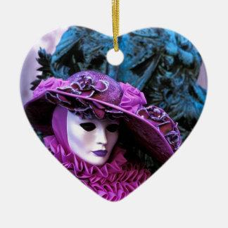 Venetian Carnival Ceramic Heart Decoration