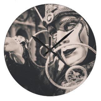 Venetian carnival mask large clock