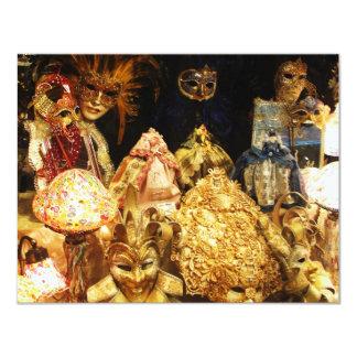 Venetian Carnival Masks - Venice, Italy Card