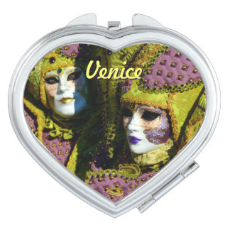 Venetian Couple With Carnival Masks Makeup Mirror