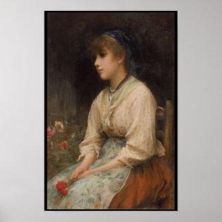Venetian Flower Girl Poster