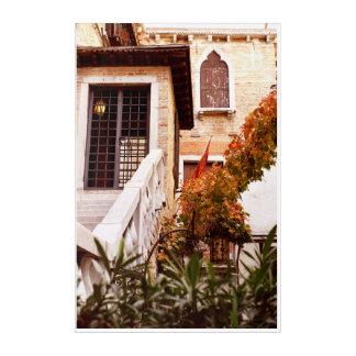 Venetian glimpse acrylic print