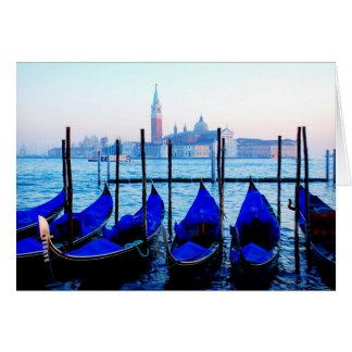 Venetian Gondolas Card