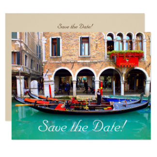 Venetian Gondolas Save-the-Date Cards