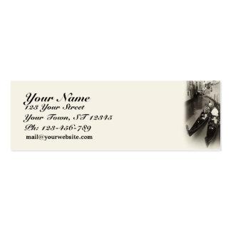 Venetian Gondolas Skinny Business Card