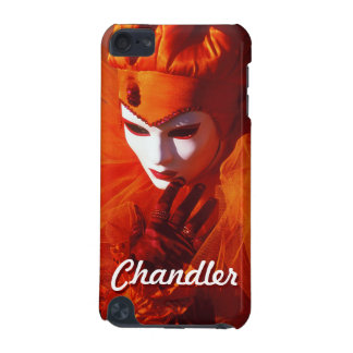 Venetian Harlequin With Orange Carnival Costume iPod Touch (5th Generation) Covers