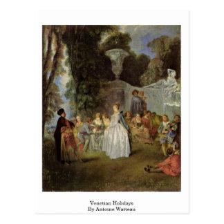 Venetian Holidays By Antoine Watteau Postcard