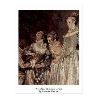 Venetian Holidays Detail By Antoine Watteau Postcard