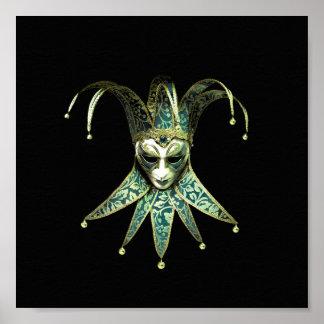 Venetian Joker Mask Poster