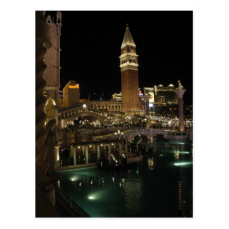 Venetian Las Vegas at night Postcard