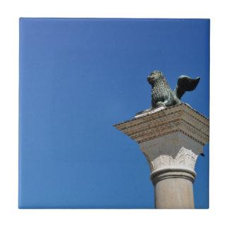 Venetian lion ceramic tile